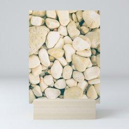 White sea pebble Mini Art Print