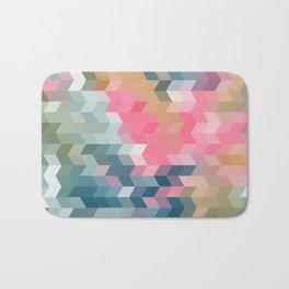 Abstract pink, blue, gray Bath Mat