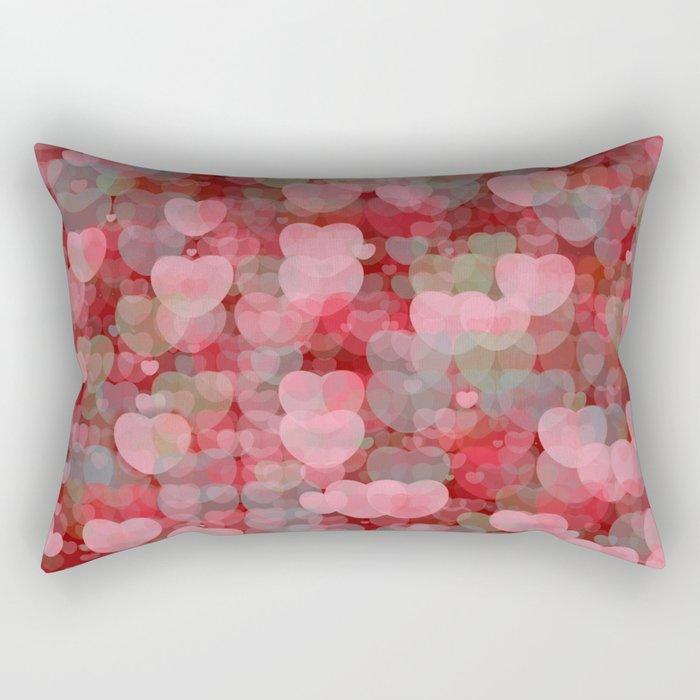 Hearts! Hearts! Hearts! Rectangular Pillow