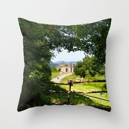 The abandoned ancient Monterano Throw Pillow