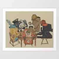 poker Art Prints featuring Polaroid Poker by Romayne Robinson
