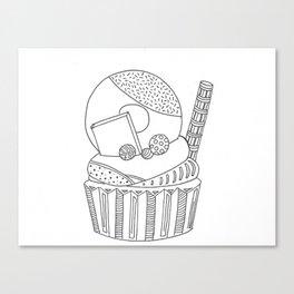 Donut on cupcake Canvas Print