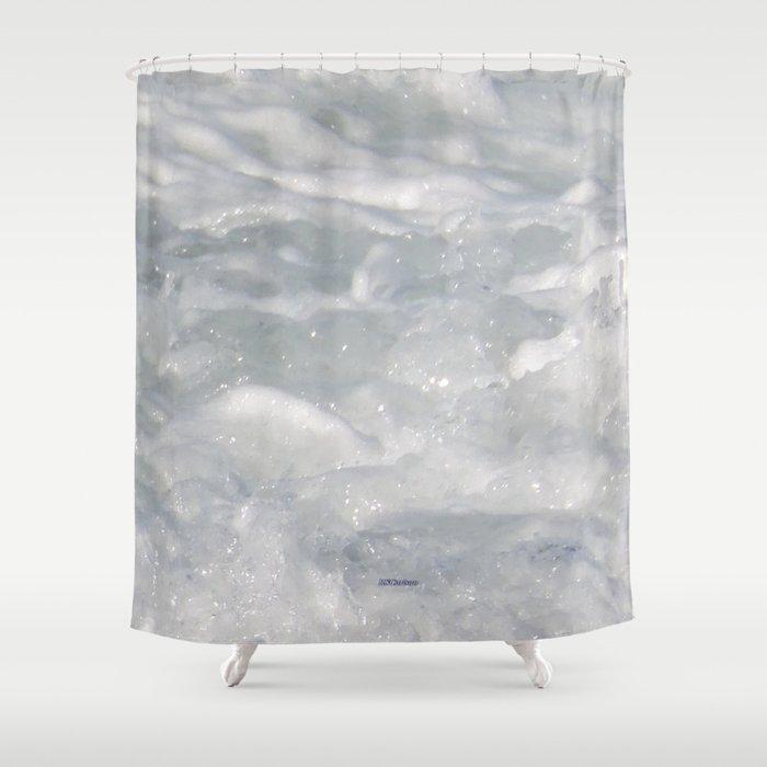 TEXTURES: Laguna Beach Sea Foam #1 Shower Curtain