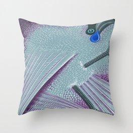 Kokako Throw Pillow