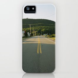 Hills and road#1 iPhone Case