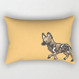 8-bit African Wild Dog Rectangular Pillow