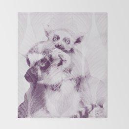 Happy Mother's Day - Lemur - maki catta Throw Blanket