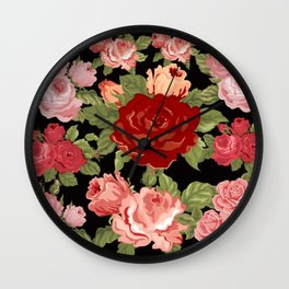 FLOWERS FOR MOM Wall Clock
