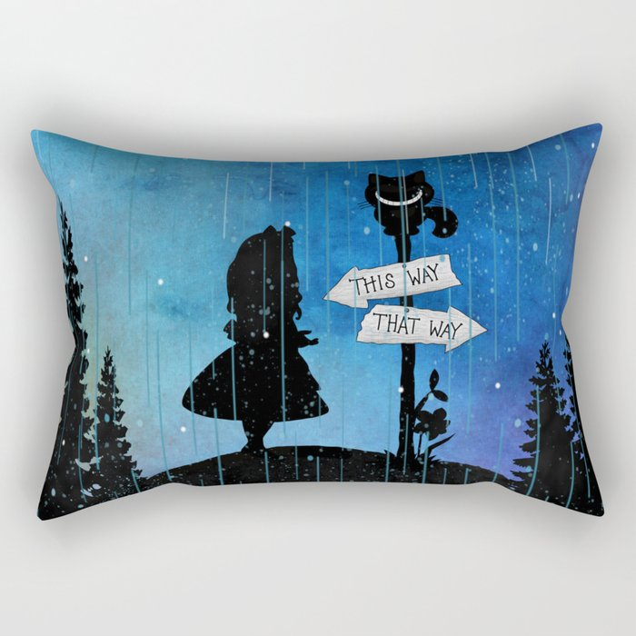 Any Road Will Get You There - Alice In Wonderland Rectangular Pillow