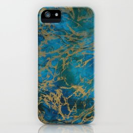 Navy Gold iPhone Case
