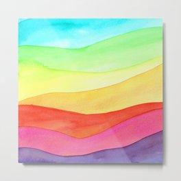 Rainbow hills Metal Print
