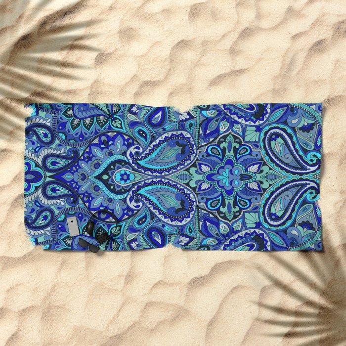 Paisley Blue Beach Towel