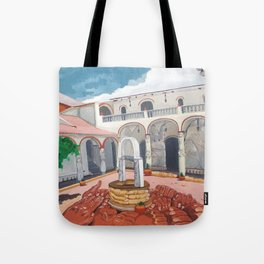 Patio colonial Tote Bag