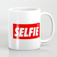 selfie Mugs featuring Selfie by Poppo Inc.
