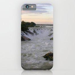 Mekong River Li Phi Waterfalls, sunrise, dawn, Laos iPhone Case