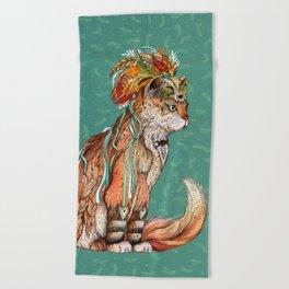 Witch Cat Beach Towel