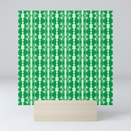 Saloon Wallpaper Mint Green Sap Green Country Wallpaper Molding Southwestern Design Pattern Mini Art Print