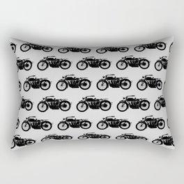 Antique Motorcycle // Light Grey Rectangular Pillow