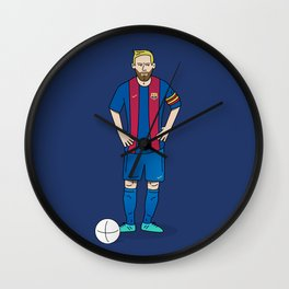 Lionel Messi - Blue Wall Clock