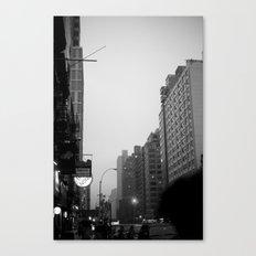 new york city in the rain  Canvas Print