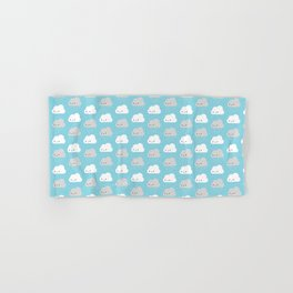 Happy and Sad Kawaii Clouds Hand & Bath Towel