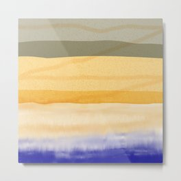 Brush Strokes Art, Watercolor, Color Theory Home Accessories Metal Print