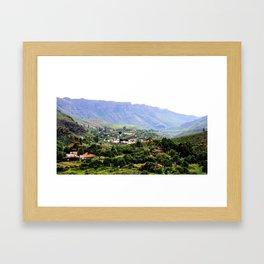 Fataga - Gran Canaria Framed Art Print