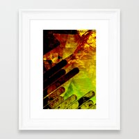 gore Framed Art Prints featuring gore core by Jake Hellrose