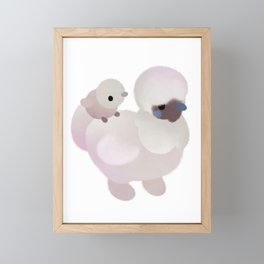 Chicken and Chick - dark Framed Mini Art Print