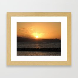 Rocked By The Sea Framed Art Print