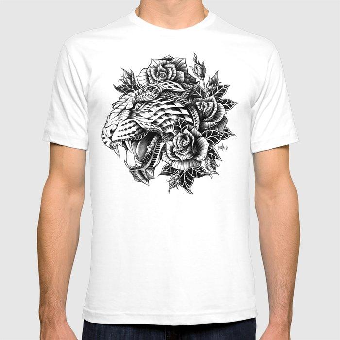 Ornate Leopard Black & White Variant T-shirt