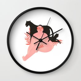 Pink Panter Wall Clock