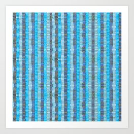 Messages in Blue Art Print