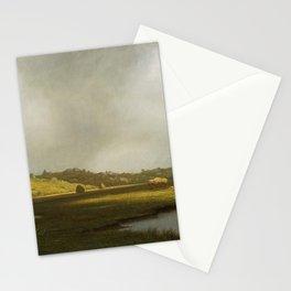 Martin Johnson Heade - Salt Marshes, Newburyport, Massachusetts Stationery Cards