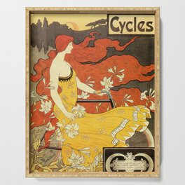 Vintage American art nouveau Bicycles ad Serving Tray