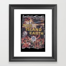 This Island Earth: Pulped Fiction Edition Framed Art Print