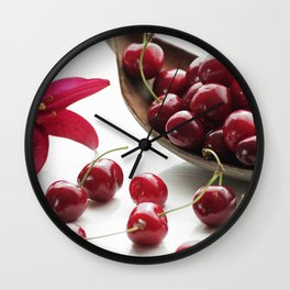 Fresh cherries straight from the tree Wall Clock