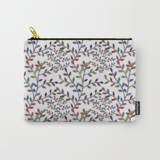 Small, Colorful Leaves  Carry-All Pouch