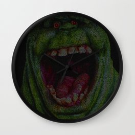 Slimer: Ghostbusters Screenplay Print Wall Clock