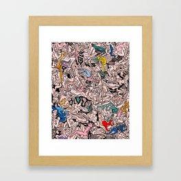 Kamasutra LOVE - Flesh Pink Framed Art Print