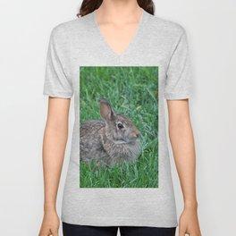 Our Backyard Bunny Unisex V-Neck