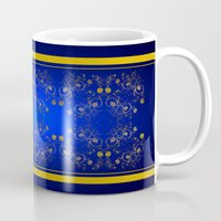 floral pattern Mugs featuring Floral Pattern by Looly Elzayat