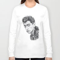 alex turner Long Sleeve T-shirts featuring Typo-songs Alex Turner by Daniac Design