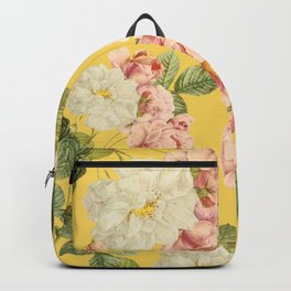 Flora temptation - sunny mustard Backpack