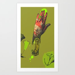 Touch me, I see you Art Print