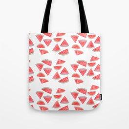 watermelon slices watercolor Tote Bag