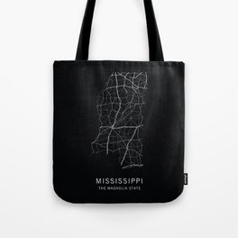 Mississippi State Road Map Tote Bag