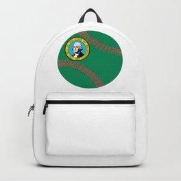 Washington Flag Baseball Backpack