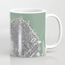 San Francisco city map engraving Coffee Mug