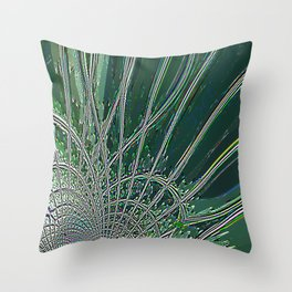 Re-Created Web of Lies18 by Robert S. Lee Throw Pillow